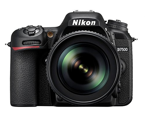 "Nikkon D7500 - Cámara réflex Digital de 20.9 MP (Pantalla LCD 3.2"", 4K/UHD, SnapBridge, Bluetooth, WiFi), Color Negro - Kit con Objetivo AF-S DX 18-105 mm f/3.5-5.6G ED VR"