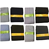 Melluha Raymond Makers Men's Synthetic Unstitched Fabric for Shirt and Trouser (MSSC-0152, Multicolour, Free Size) - Set of 4