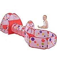 Kids Play Tent With Tunnel,VicPow Outdoor Indoor Bounce Playhouse Ball Play Tent Toys - Perfect Christmas Gift For Toddlers Child(Ball Pits Not Included)