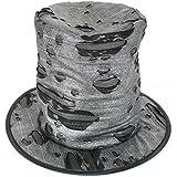 Fasching 38205- Sombrero de copa para disfraz de zombi, color negro