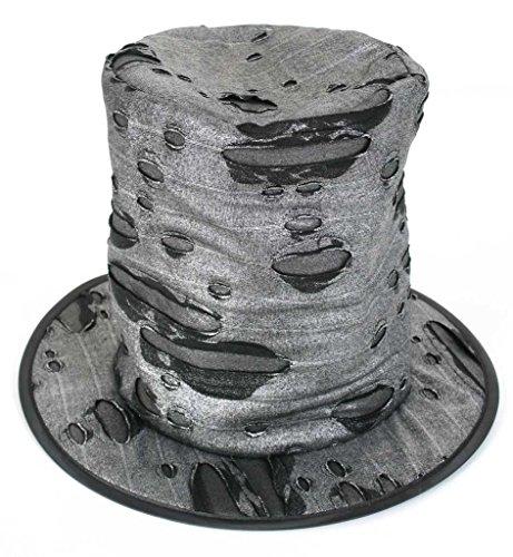 FASCHING 38205 Hut Zombie-Hexer Zylinder Halloween schwarz (Hut Halloween)