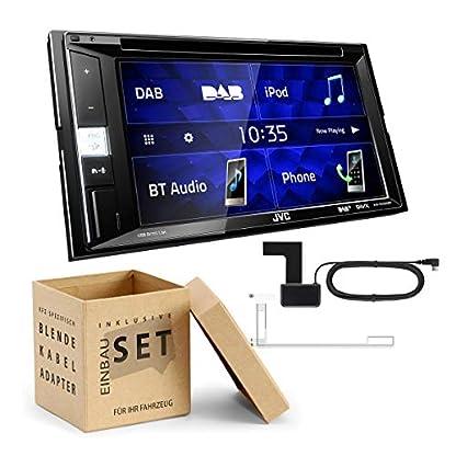 JVC-KWV255-2-DIN-Digital-DAB-Receiver-inkl-DAB-Antenne-DVD-Bluetooth-passend-fr-Mercedes-Vito-Viano