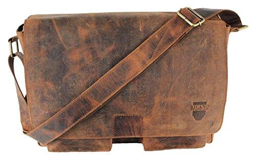 MIO von RICANO, Umhängetasche aus Peel Nappa Echtleder in vintage braun