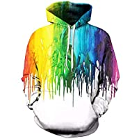 comechen Mens Hoodie Sweatshirt/Jumper Jacket Fleece LinedArt Starry 3D W01333 kid1