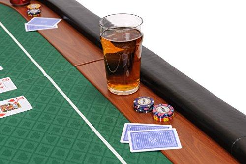 Riverboat Gaming Champion faltbare Pokerauflage mit grünem wasserabweisenden Stoff und Tasche - Pokertisch 180cm - 5