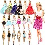 Miunana 16 Abiti per Barbie Dolls = 10 Vestiti alla Moda + 3 Costumi da Bagno + 3 Vestiti da Sposa Principessa