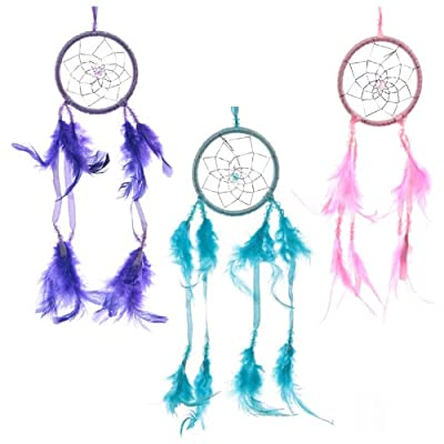 Bright Ribbon & Feather Dreamcatcher - Hoop 8cm