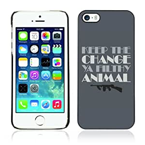 CaseCaptain Cas Coq Coquille Case Apple iPhone 5 / 5S / Funny Home Alone Quote Keep The Change /