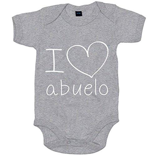 Body bebé I Love abuelo - Gris, 6-12 meses
