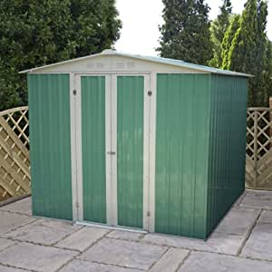2.44 meters x 1.83 meters Value Apex Shed (2,42 m x 1,83 m) mit Anker Kit