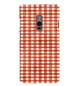 PrintVisa Designer Back Case Cover for OnePlus 2 :: OnePlus Two :: One Plus 2 (White and red pattern design :: Checks pattern design :: Wonderful design :: Tumblr pattern design :: Nice pattern designs)