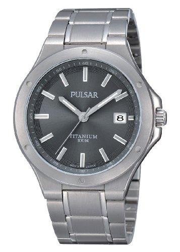 Pulsar Uhren PS9125X1 - Orologio da polso uomo, titanio, colore: argento