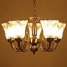 Chandelier buy chandeliers online at low prices in india amazon prop it up ntique design brass 5 lamps chandelier 38x38x25cm golden and brown aloadofball Images