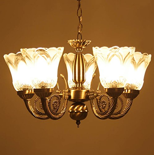 Prop It Up Antique Design Brass Chandelier - 5 Lamps (38cmX38cmX25cm)