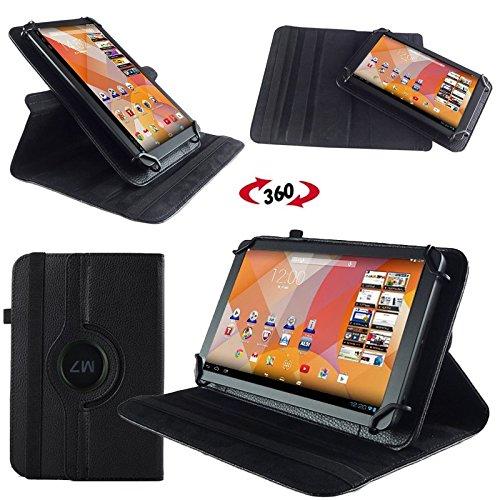 NAUC Hülle für Huawei MediaPad M1 8.0 Tasche Schutzhülle Case Tablet Cover Etui, Farben:Schwarz