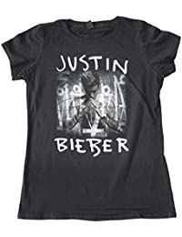Justin Bieber Purpose cover new official Womens black Skinny Fit T Shirt