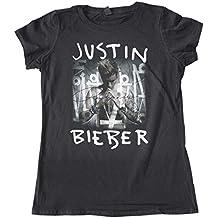 Justin Bieber T Shirt Purpose Album Cover Oficial De las mujeres nuevo negro