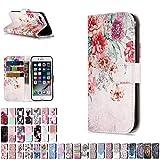 LA-Otter Coque Apple iPhone 5 5S Se Fleurs Rétro Flip Case Housse Etui à Rabat...