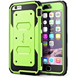 i-Blason Apple iPhone 6 / 6S (4.7 Zoll) Hülle Armorbox Case Outdoor Handyhülle Stoßfest Schutzhülle Bumper Cover mit integriertem Displayschutz, Grün