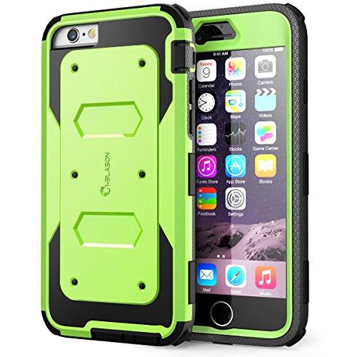 i-Blason Apple iPhone 6 / 6S (4.7 Zoll) Hülle Armorbox Case Outdoor Handyhülle Stoßfest Schutzhülle Bumper Cover mit integriertem Displayschutz, Grün - Iphone-tastatur-case