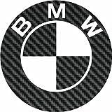 Aufkleber wählbar Adhesivo Sticker Sponsoren Sticker BMW Logo Carbon vorgeschnitten, Auto Motorrad, Helm 9,5cm cm Aufkleber Autocollant