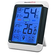 Termometro-igrometro digitale per l'interno Dimensioni XL per una lettura facile e veloce. La memoria termometro si riavvia automaticamente ogni giorno per una nuova lettura di 24 ore. Oltre a mostrare la temperatura e i tassi di umidità, son...