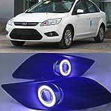 eeMrke EE-2015Y02-AE5080 Auto Angel Eyes LED DRL Tagfahrlicht E13 Halogen Nebelscheinwerfer Kits für Focus 2009-2011
