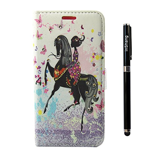 inShang Coque HUAWEI Galaxy P10 Lite Housse Etui Plastique Case ductile TPU + Qualite inShang Logo Pens Haute Stylet capacitif riding girl