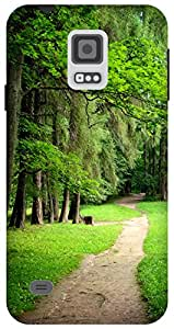 The Racoon Grip forest road hard plastic printed back case / cover for Samsung Galaxy S5