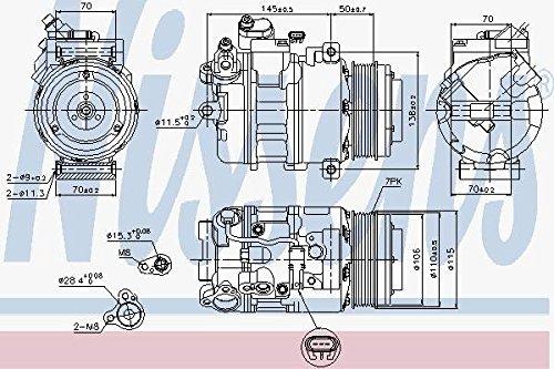 Preisvergleich Produktbild NISSENS 89574 Kompressor,  Klimaanlage