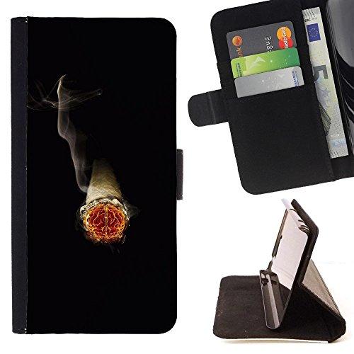 FJCases Zigarre Rauch Tabak Tasche Brieftasche Hülle Schale Standfunktion Schutzhülle für Motorola Droid Turbo 2