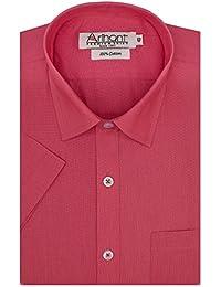 Arihant Men's Plain Half Sleeve Cotton Regular Fit Formal Shirt