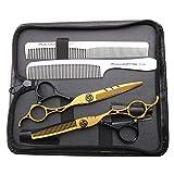 HEMATITE 6 pouces Ciseaux de coiffure 440C en acier pour salon de coiffure de salon de coiffure 17.5 cm