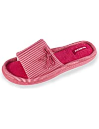 Isotoner Chaussons sandales femme rayures Femme