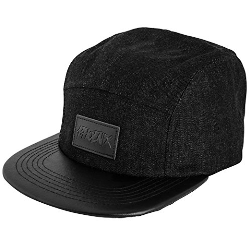 Blackskies Denim Beast Vol. II 5-Panel Cap Sombrero Unisex Gorras de Béisbol Negro Cuero Kappi Snapback