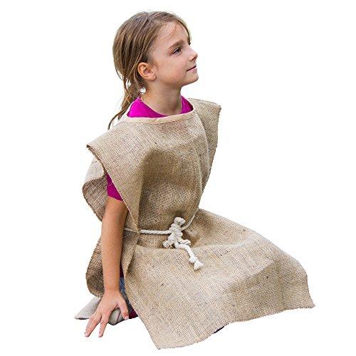 Bettler Kostüm für Sankt Martin, toller Umhang aus Jute mit Kordel in Kindergarten-Qualität