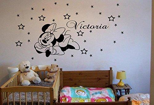 Adhesivo para la pared personalizable, diseño de Minnie Mouse, ideal para habitaciones infantiles