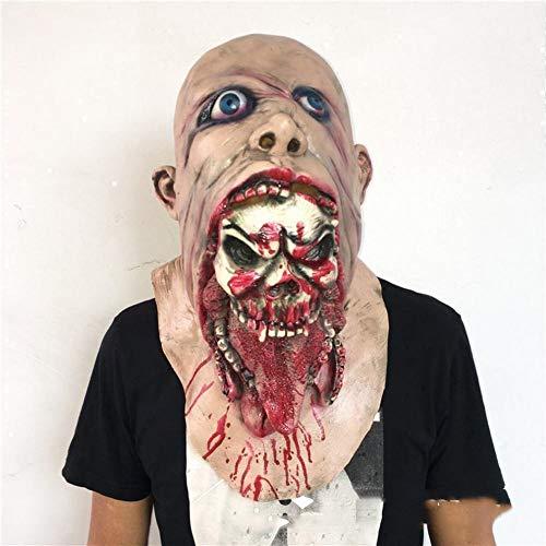 Requisiten Ekelhafte Rot Gesicht Blutig Zombie Maske Gehen Tote Auto Biohazard Kopfbedeckung,1,1 ()