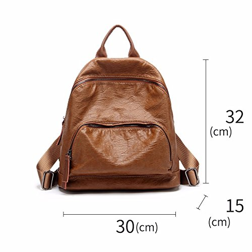 freizeit - mode - handtaschen mit großer kapazität rucksack retro,beige brown