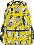 Pingüino Amarillo Popurrí Mochilas Bolsa de Libros de la Escuela universitaria Viajes Senderismo Camping Mochila