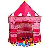 Kinder im Freien Zelt Princess Castle Mädchen-Prinzessin Zelt drinnen Haus Krabbeln Folding Haus Rosa