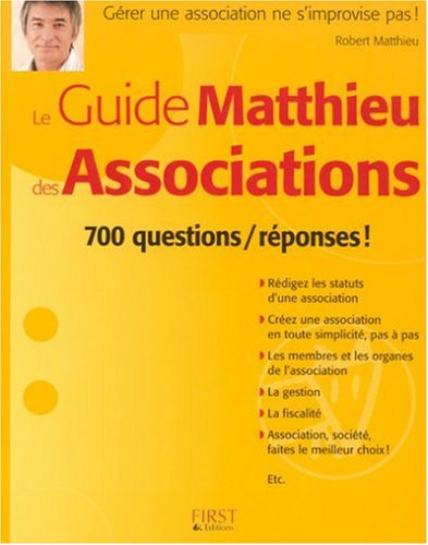 Le Guide Matthieu des Associations par Robert Matthieu