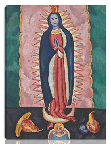 Berkin Arts Marsden Hartley Estirado Giclee Imprimir en Lienzo-Pinturas Famosas Arte Fino Póster-Reproducción Decoración de Pared Listo para Colgar(La Virgen de Guadalupe)#NK