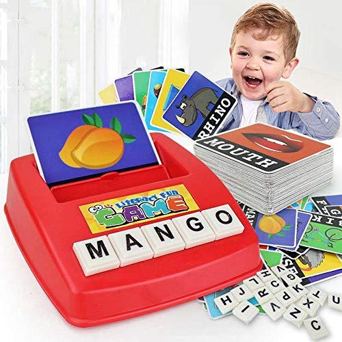 Womdee Sight Flash Word Cards, Word Flash Cards Wort Baumeister Spelling Words Toy für Alphabet Letter Word Spelling Game, Lernspielzeug für Vorleser und frühe Leser