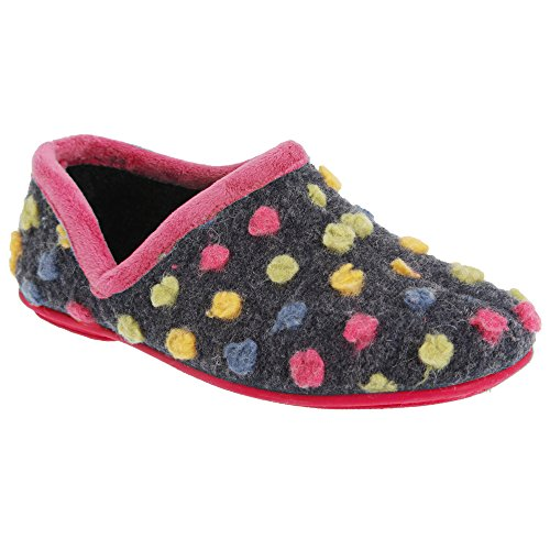 Sleepers Jade - Chaussons à pois - Femme Bleu/Multicolore