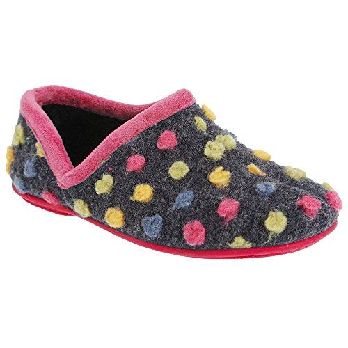 Sleepers - Jade - Pantofole a Pallini - Donna Fucsia/Multi