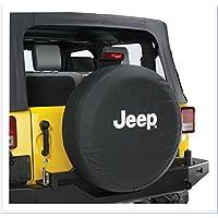 Jucarvo Rueda de repuesto Neumático Neumático Funda Cubierta Protector 17inch PVC Negro con Logotipo Spare Wheel Tire Protector Cover