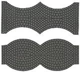 Vollmer 48244 H0 Strassenplatte Kopfsteinpflaster, Endstücke