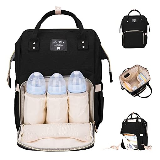 Lifecolor Baby Nappy Bag Waterproof Multi-Function Travel Backpack Large Capacity, Stylish and Durable 51i3PmvFpML