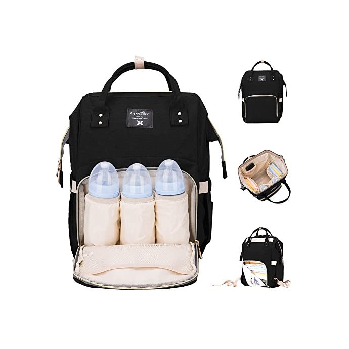 e28fefa8d66e Lifecolor Baby Nappy Bag Waterproof Multi-Function Travel Backpack Large  Capacity, Stylish and Durable